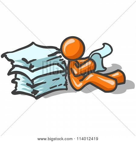 Orange Man Printed Materials