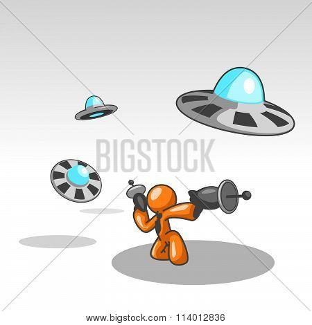 Orange Man Ufo Attack.