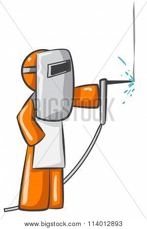 Orange Person Welder