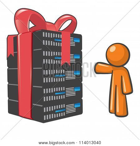 Orange Man Web Hosting Savings