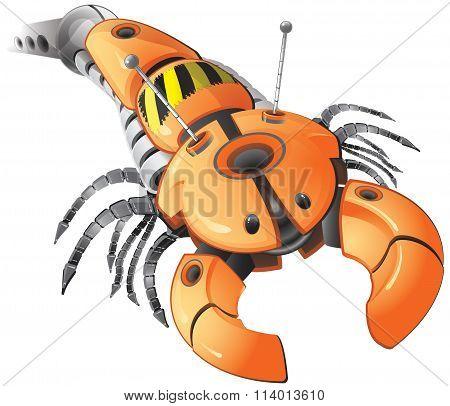 Orange Robot Parasite