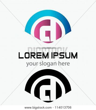 Letter D Logo Design.Creative Symbol of letter D