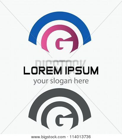 Letter G Logo Design.Creative Symbol of letter G