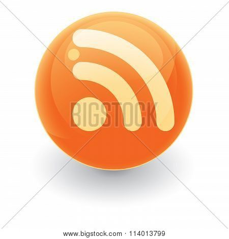 Glossy Rss Sphere Icon