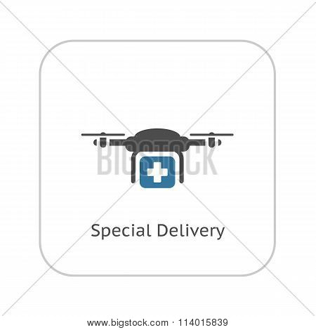 Special Delivery Icon. Flat Design.