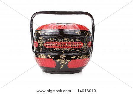 Traditional Bakul Siah Wedding Basket Used By Peranakan Chinese