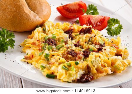 Breakfast - scrambled eggs