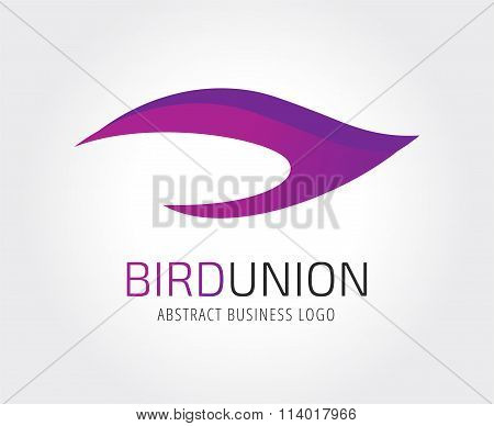 Abstract bird logo icon template