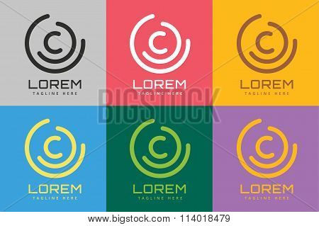 C letter vector logo icon symbol