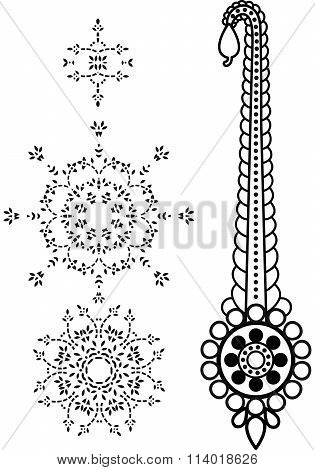 Paisley Mehndi Vector Floral Design