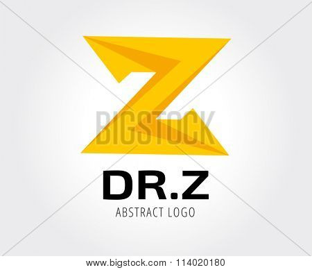 Abstract z character logo icon template. Z logo, web studio, design studio, round shape, logo icon, company logo, abstract logo, design element, creative idea. Logotype for branding