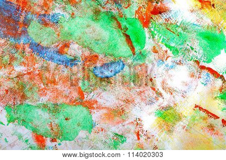 Abstract Pattern. Children's Drawing. Colorful Play.