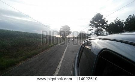 fondo de la carretera