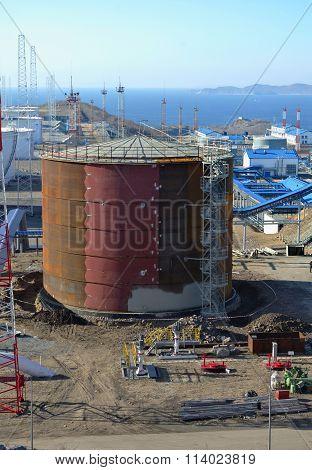 New Oil Storage Tanks