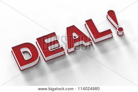 Deal! 3d sign