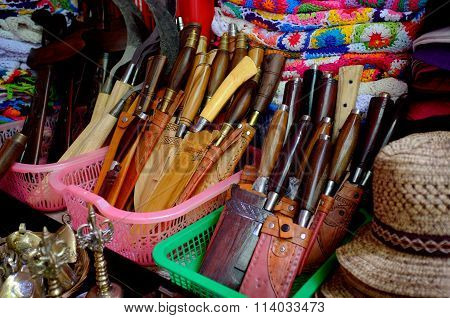 Knives and machetes for sale, Bali