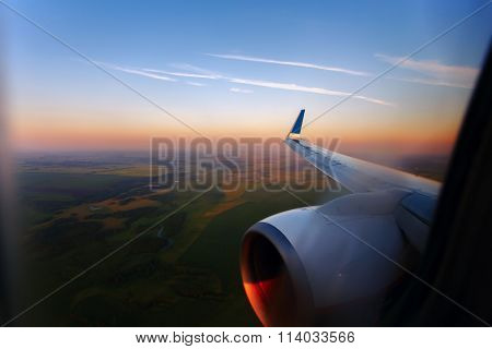 view form a airplane window