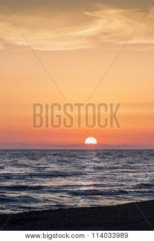 beautiful sunset at Ada Bojana resort Montenegro