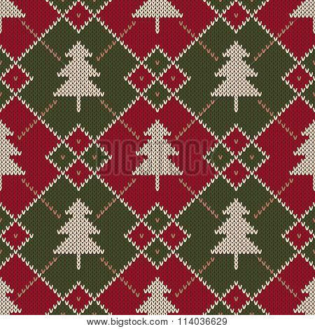 Winter Holiday Sweater Design. Seamless Knitted Pattern