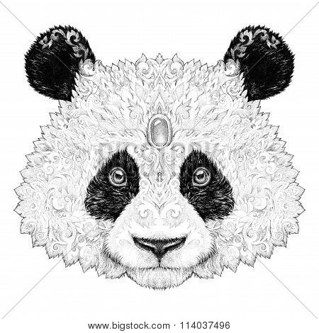 Tattoo Portrait Panda Bear