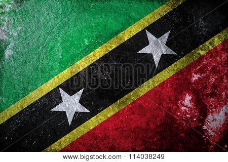 Saint Kitts and Nevis Grunge