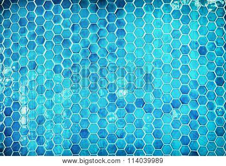 Blue Mosaic Swimming Pool Background