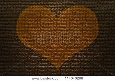 Nterlace Style Heart Pattern For Abstract Golden Colour Background