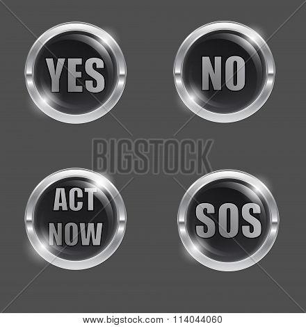 Yes-no-black