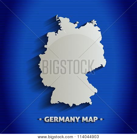Germany map blue line 3D vector