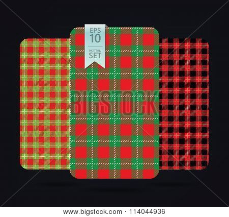 Gingham Patterns and buffalo check plaid patterns