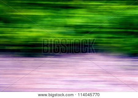 Abstract Of A  Green Pink Street