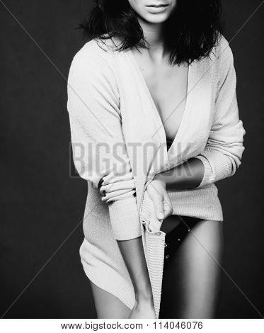 Greyscale girl portrait