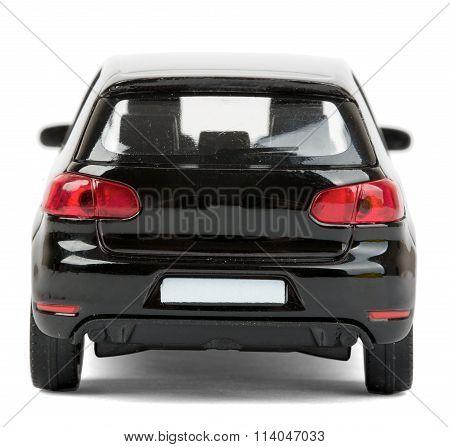 Black car on white