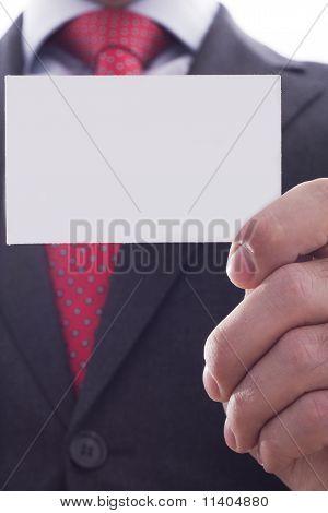 Businessman Showing Businesscard