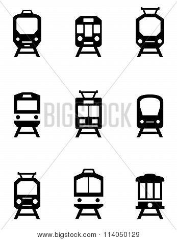 set of train icons