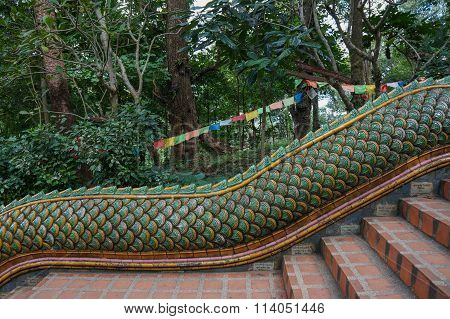 Stairs Leading To Doi Suthep