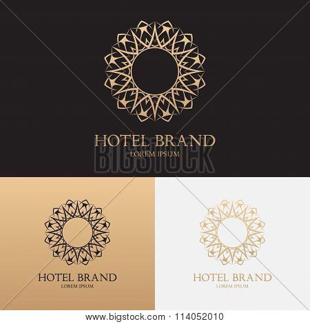 Vector Template Of Logo Of Hotel Brand