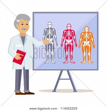 Doctor Shows Type Human Body