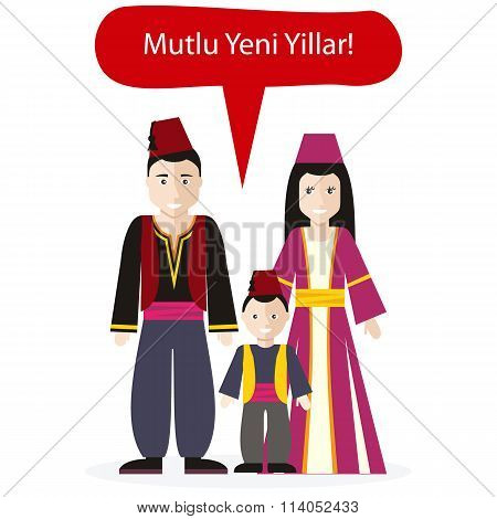 Turks People Congratulations Happy New Year