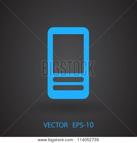 Flat  icon of cellphone