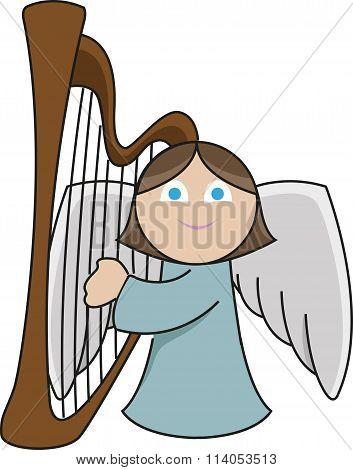 Harpist angel