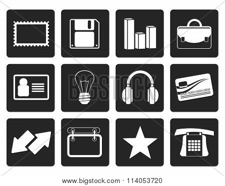 Black Office and business icons