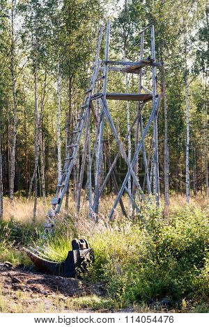 Deer Stand for Hunting in northern Sweden