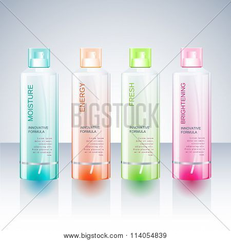Packaging design Template for body care bottle