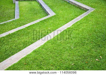 Thailand Asia  Abstract Cross Garden Grass  The Temple