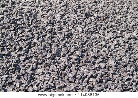 Gray Gravel Of Small Size