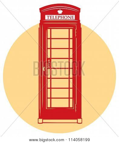 Vector London telephone booth