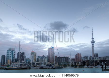 View over Viaduct Basin in Auckland, New Zealand