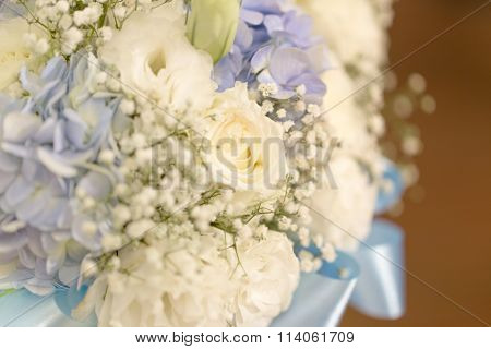 Close Up Onto Bouquet