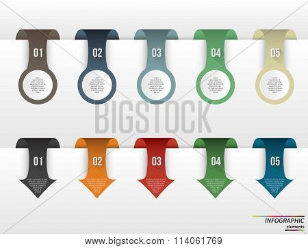 Infographic template . Design concept for presentation, round chart or diagram. Vector EPS10.